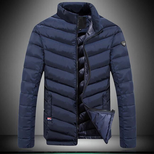 qualité authentique gamme de couleurs exceptionnelle Livraison gratuite dans le monde entier jeansjogging- doudoune armani homme chaude vente classique slash grille  blue | JeansJogging
