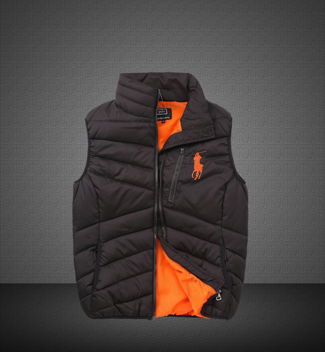 grande vente b9c1e 52173 jeansjogging- polo ralph lauren gilet sans manches zipper mercer pony  orange | JeansJogging