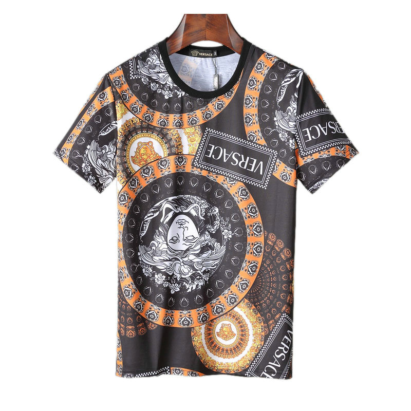 100% de qualité supérieure grande vente au rabais sélection premium jeansjogging- short sleeve t-shirt casual versace vintage floral homme  summer cool medusa versac | JeansJogging