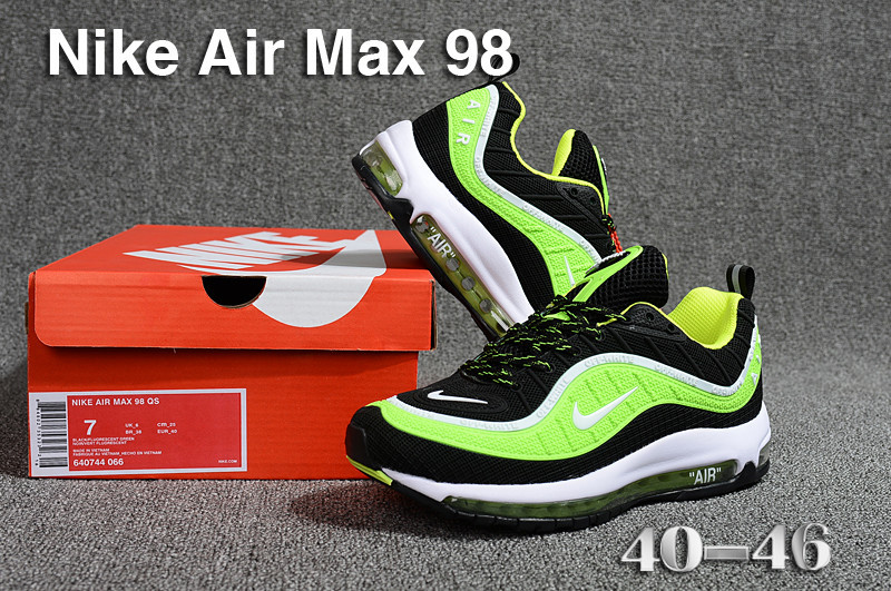 usine authentique Vente nouveau design jeansjogging- nike air max 98 acheter running chaussures sneakers green off  white | JeansJogging