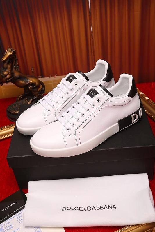 a469c579d00317 chaussures dolce gabbana sneakers tennis cowhide white black - EUR ...