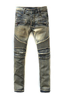 balmain slim-fit biker jeans fashion 536
