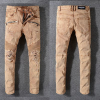 balmain slim-fit biker jeans fashion 999ba-122