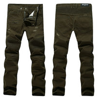 balmain slim-fit biker jeans fashion army vert