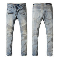 balmain slim-fit biker jeans fashion wash white