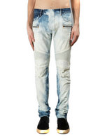 balmain slim-fit biker jeans fashion white blue