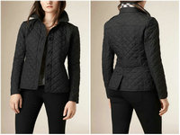 burberry jacket en tissu matelassee button black