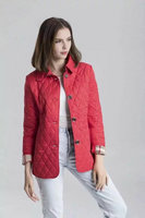 burberry jacket en tissu matelassee red button