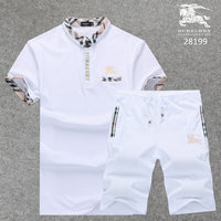 chaude popular manches courtes burberry Tracksuit button white