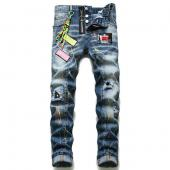 dsquared2 cool guy slim fit pantalon broderie dsquared blue