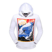dsquared2 pull sweatshirts hoodies popular automne printing skiing white