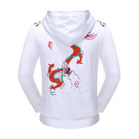 gucci pull polyester cotton dragon white