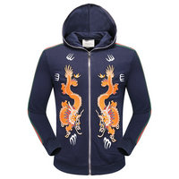 gucci pull polyester cotton fire dragon