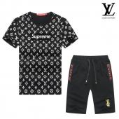 manche courte Tracksuit louis vuitton tracksuit superme et lv black