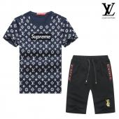 manche courte Tracksuit louis vuitton tracksuit superme et lv blue black