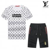 manche courte Tracksuit louis vuitton tracksuit superme et lv cheap