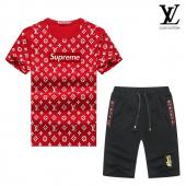 manche courte Tracksuit louis vuitton tracksuit superme et lv red black