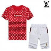manche courte Tracksuit louis vuitton tracksuit superme et lv red white