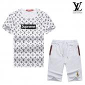 manche courte Tracksuit louis vuitton tracksuit superme et lv white