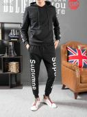 men sportswear louis vuitton tracksuits Tracksuit sweatshirt supreme black