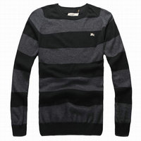 new style pull burberry hiver populaire burberry sweater parallelement rugueuse noir