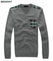 new style pull burberry hiver populaire burberry sweater sacs poitrine gris