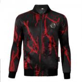philipp plein sport jacket zippee lightning red
