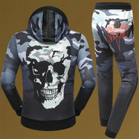 philipp plein Tracksuit hoodie pour man army camouflage