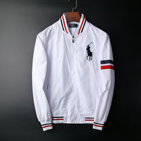 polo ralph lauren long sleeve jacket sweat michael line white