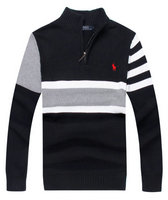 pull ralph lauren brode style camionneur river striped noir
