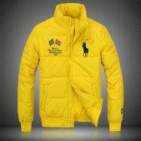 ralph lauren doudoune manteau hommes big pony populaire 2013 drapeau  national brazil jaune 58d41fc672f