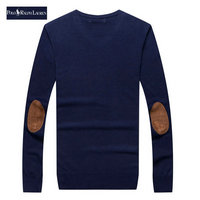 ralph lauren pull coupe cintree long sleeves deep blue