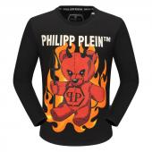 round neck sweaters philipp plein mens designer angry teddy bear round collar