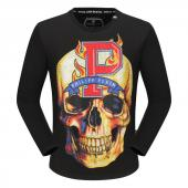 round neck sweaters philipp plein mens designer big fire skull cool