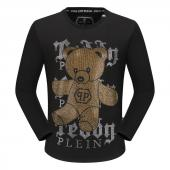 round neck sweaters philipp plein mens designer gold cristal bear