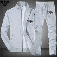 Tracksuit ea7 pour man a col montant aj running gray