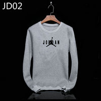 sweat-shirt nike jordan icon jacket jordan small gray jd02