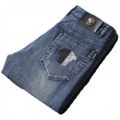 versace jeans denim collection pour homme half color medusa