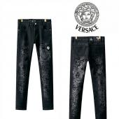 versace jeans denim collection pour homme print medusa black