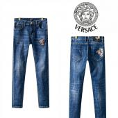 versace jeans denim collection pour homme rainbow embroidery medusa