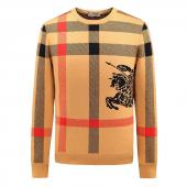 burberry logo sweat man women pull fletch vintage col rond yellow