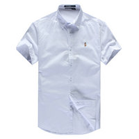 chemises ralph lauren man coton tentation 2013 manche courte polo color pony white