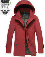 emporio armani coats doudoune de laine casual purple red