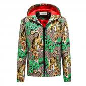 gucci jacket new man forest bengal tiger print hoodie