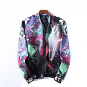 homme cuir jacket louis vuitton original lv99008 big flower