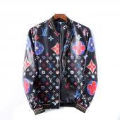 homme cuir jacket louis vuitton original lv99012 blue