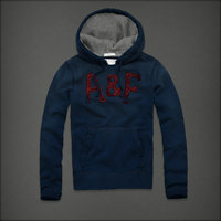 hommes jacket hoodie abercrombie & fitch 2013 classic x-8001 lumiere bleu saphir