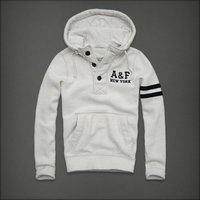 hommes jacket hoodie abercrombie & fitch 2013 classic x-8007 blanc casse