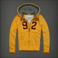 hommes jacket hoodie abercrombie & fitch 2013 classic x-8013 jaune