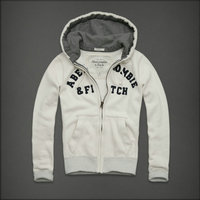 hommes jacket hoodie abercrombie & fitch 2013 classic x-8014 blanc casse
